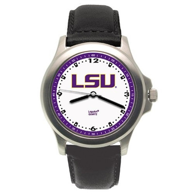LSU Tigers Rookie Leather Men's Watch