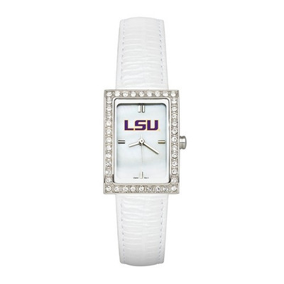LSU Tigers Women's Allure White Leather Strap Watch