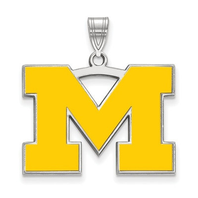 Michigan Wolverines M Enamel Pendant