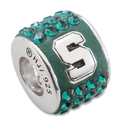 MSU Spartans Sterling Silver Bracelet Bead Charm