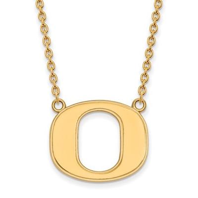 Oregon Ducks 14K Gold Pendant Necklace