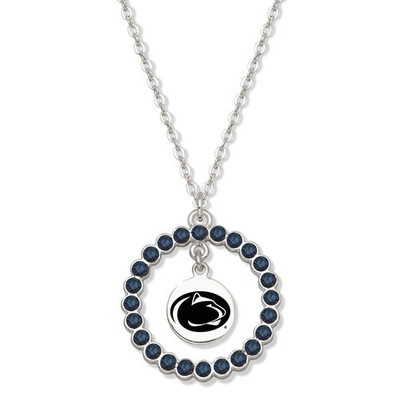 Penn State Nittany Lions Spirit Crystal Logo Wreath Necklace