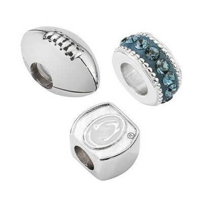 Penn State Nittany Lions Sterling Silver 3 Piece Bracelet Charms