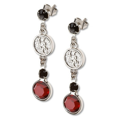 South Carolina Gamecocks Crystal Logo Earrings
