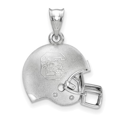 South Carolina Gamecocks Sterling Silver 3D Football Helmet Pendant