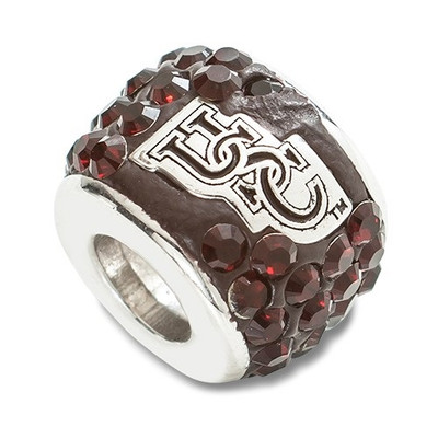 South Carolina Gamecocks Logo Sterling Silver Bracelet Bead Charm