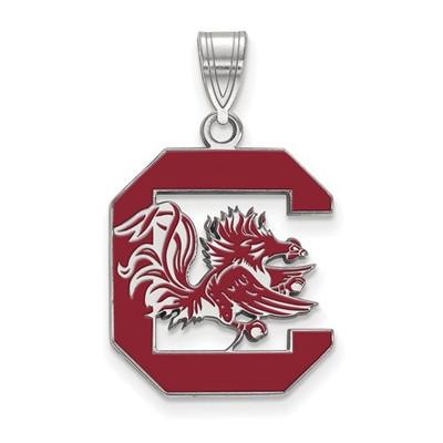 South Carolina Gamecocks Sterling Silver Enamel Pendant