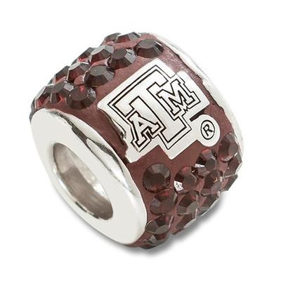 Texas A&M Aggies Logo Sterling Silver Bracelet Bead Charm