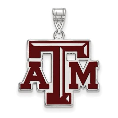 Texas A&M Aggies Sterling Silver Enamel Pendant