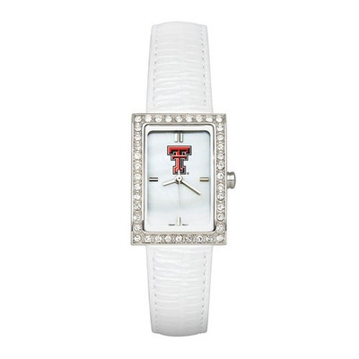 Texas Tech Red Raiders Women's Allure White Leather Strap Watch