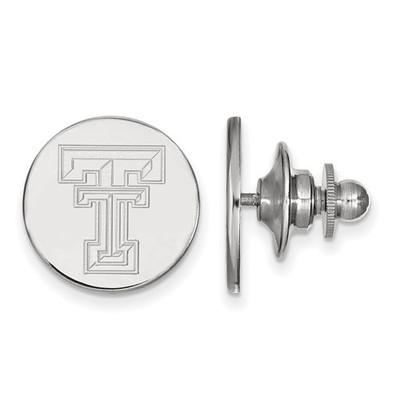 Texas Tech Red Raiders Circle Sterling Silver Lapel Pin