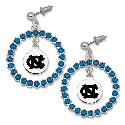 UNC Tar Heels Spirit Crystal Logo Wreath Earrings