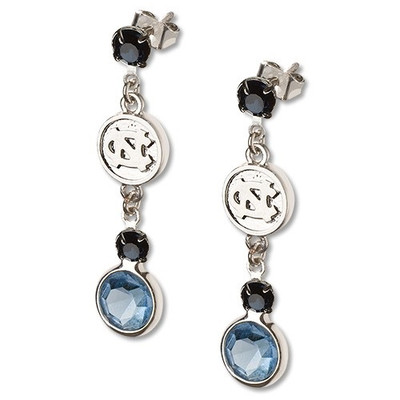 UNC Tar Heels Crystal Logo Earrings