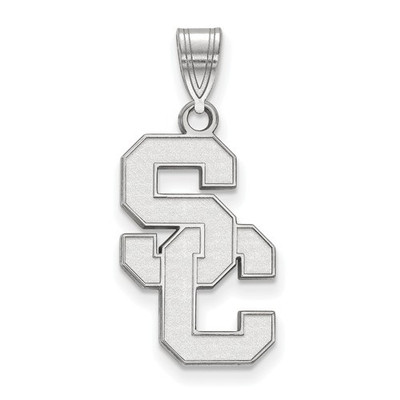USC Trojans Sterling Silver SC Pendant