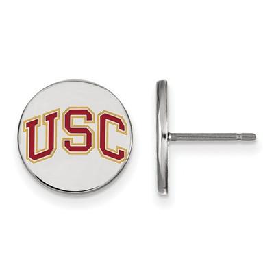 USC Trojans Sterling Silver Disc Post Earrings