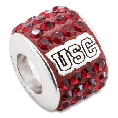 USC Trojans Logo Sterling Silver Bracelet Bead Charm