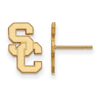 USC Trojans 14K Gold Post Earrings