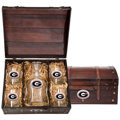 Georgia Bulldogs Capitol Decanter Chest Set