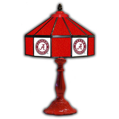 Alabama Crimson 21 in Glass Table Lamp