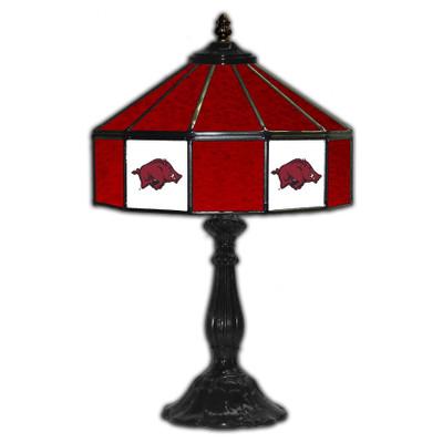Arkansas Razorbacks 21 in Glass Table Lamp