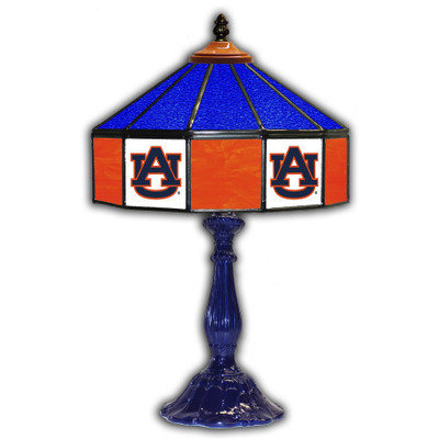 Auburn Tigers 21 in Glass Table Lamp