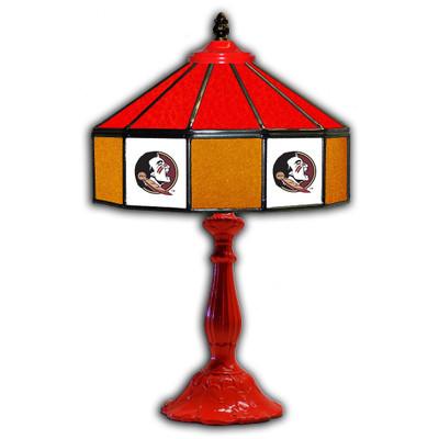 FSU Seminoles 21 in Glass Table Lamp