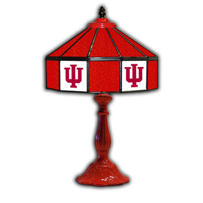 Indiana Hoosiers 21 in Glass Table Lamp