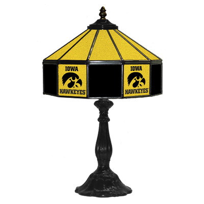 Iowa Hawkeyes 21 in Glass Table Lamp