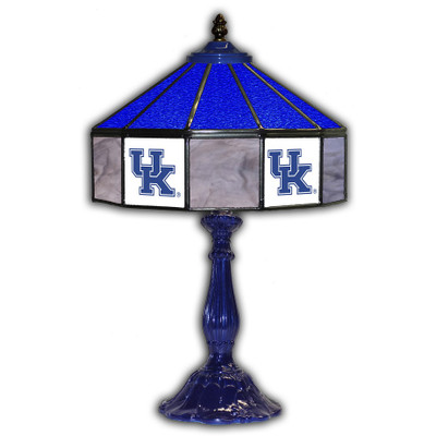 Kentucky Wildcats 21 in Glass Table Lamp