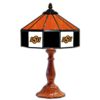 Oklahoma State Cowboys 21 in Glass Table Lamp