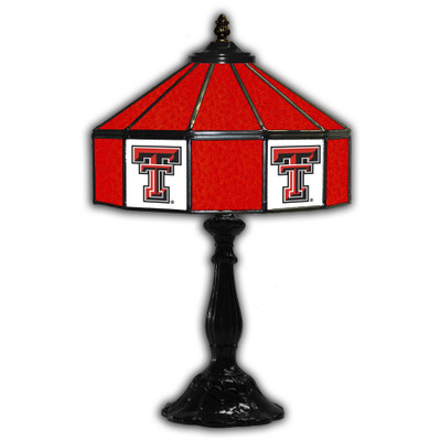 Texas Tech Red Raiders 21 in Glass Table Lamp