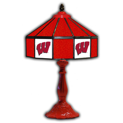 Wisconsin Badgers 21 in Glass Table Lamp