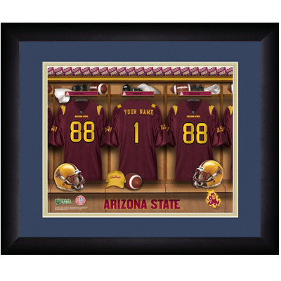 Arizona State Sun Devils Personalized Locker Room Print