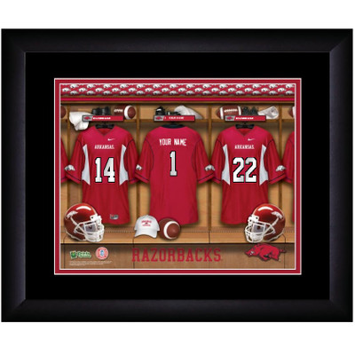 Arkansas Razorbacks Personalized Locker Room Print
