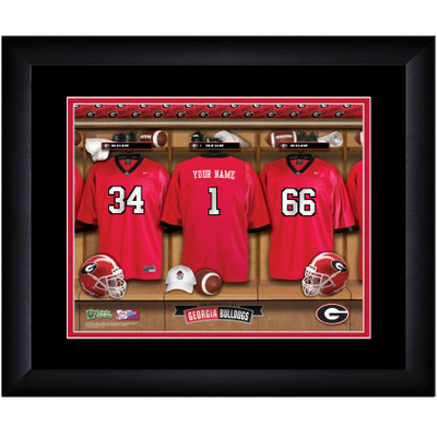 Georgia Bulldogs Personalized Locker Room Print