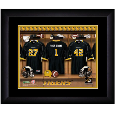 Missouri Tigers Personalized Locker Room Print