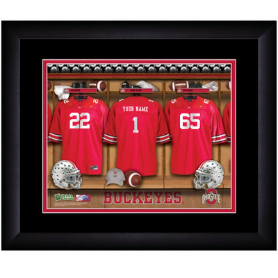 Ohio State Buckeyes Personalized Locker Room Print | Get Letter Art | OHIOLOCKER