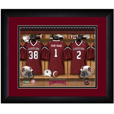 South Carolina Gamecocks Personalized Locker Room Print