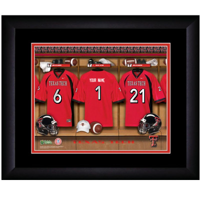 Texas Tech Red Raiders Personalized Locker Room Print | Get Letter Art | TTREDLOCKER