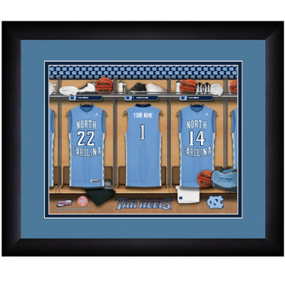 UNC Tar Heels Personalized Locker Room Print | Get Letter Art | NCARLOCKER