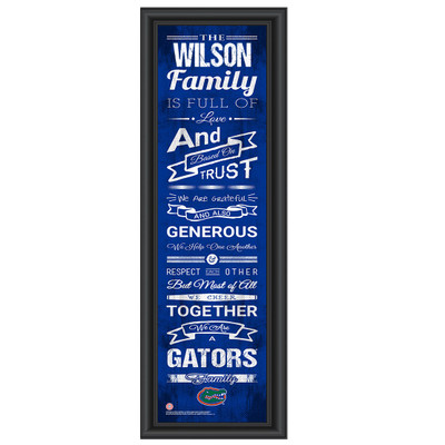 Florida Gators Personalized Family Cheer Print