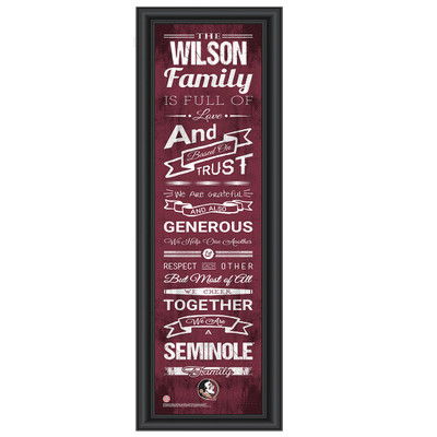 FSU Seminoles Personalized Family Cheer Print | Get Letter Art | FSUFAM