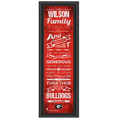 Georgia Bulldogs Personalized Family Cheer Print