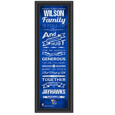 Kansas Jayhawks Personalized Family Cheer Print