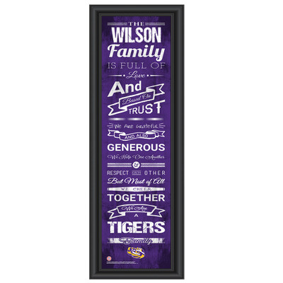 LSU Tigers Campus Personalized Family Cheer Print