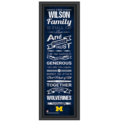 Michigan Wolverines Personalized Family Cheer Print