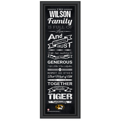 Missouri Tigers Personalized Family Cheer Print