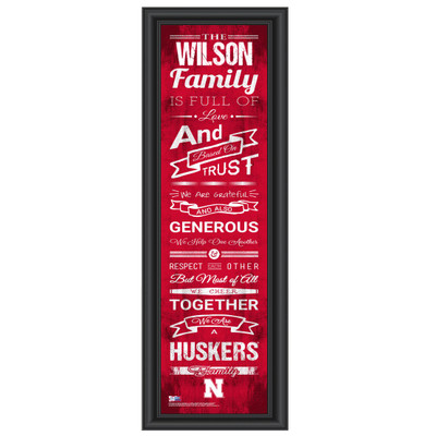 Nebraska Huskers Personalized Family Cheer Print