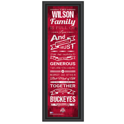Ohio State Buckeyes Personalized Family Cheer Print | Get Letter Art | OHIOFAM