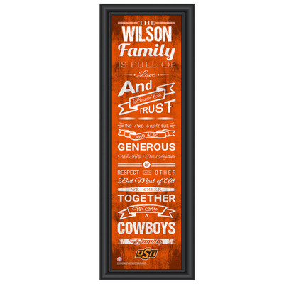 Oklahoma State Cowboys Personalized Family Cheer Print